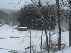 Creekside Cabin Farm from the road.....